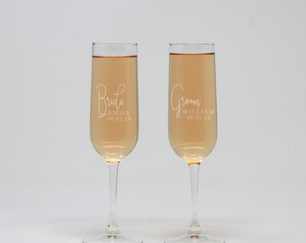 Personalized Champagne Flute, Bride & Groom Champagne Flute, Champagne Glass, Toasting Flutes, Wedding Flutes, Wedding Gift --27428-CF01-028