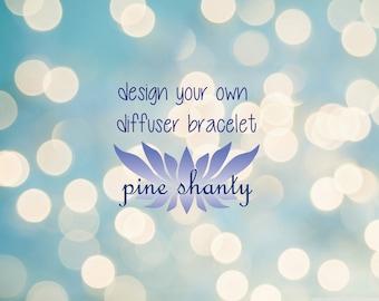 Custom Lava Bracelet, Diffuser Bracelet, Meditation Bracelet, Diffuser Jewlery, Intent Bracelet, Yoga Bracelet, Build Your Own Bracelet