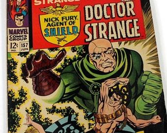 "Strange Tales, Doctor Strange, Marvel Comic Groups, ""Crisis!"", Vintage Comic Books, 1967, Vista Publications"