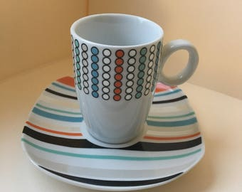Vintage espresso cup and saucer set