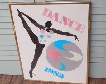Retro 1983 Framed Dance Picture!