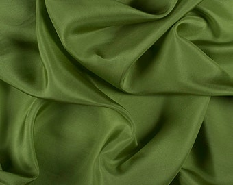 "45"" Wide 100% Silk Crepe de Chine Apple Green by the yard (1200M139)"