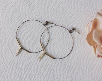 Bronze and hoop earrings