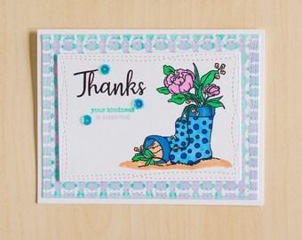 Greeting Card   Handmade Card   Thank You Card   Blank Inside Card