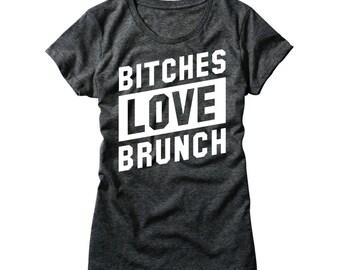 Womens B*tches Love Brunch Shirt - Girls Sunday Funday TShirt - Brunch So Hard Shirt - Brunch Shirts - Funny Brunch Shirt - But First Brunch