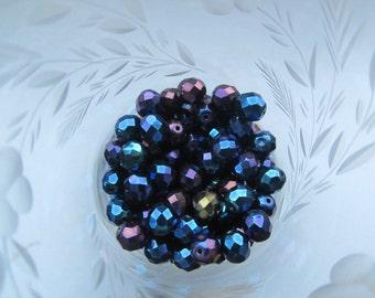 Czech Preciosa Faceted 8mm Blue Iris Beads 25Pcs.