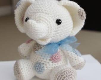 Amigurumi Crochet Pattern - Peanut the Elephant