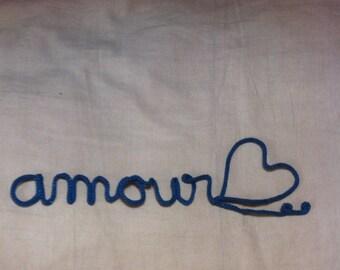 "love blue heathered wool knitting"""