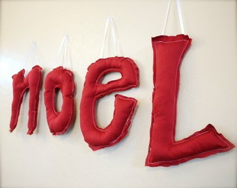 """Holiday Custom Hanging Letters. 10"""". Made to Order."""