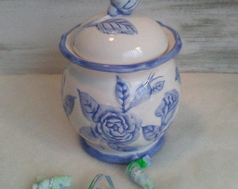 """Sugar Bowl with Lid Mother's Day Gift, Memory Box, 20th Anniversary China""""Growing up ME! Memory Compendium©""""RoadSideBoutique Mary Lynn Savko"""