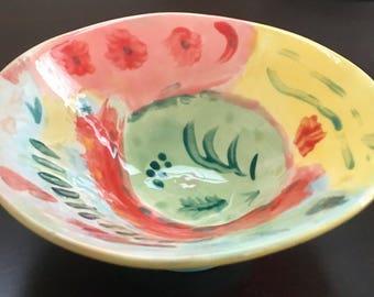 Hand-glazed Ceramic Bowl