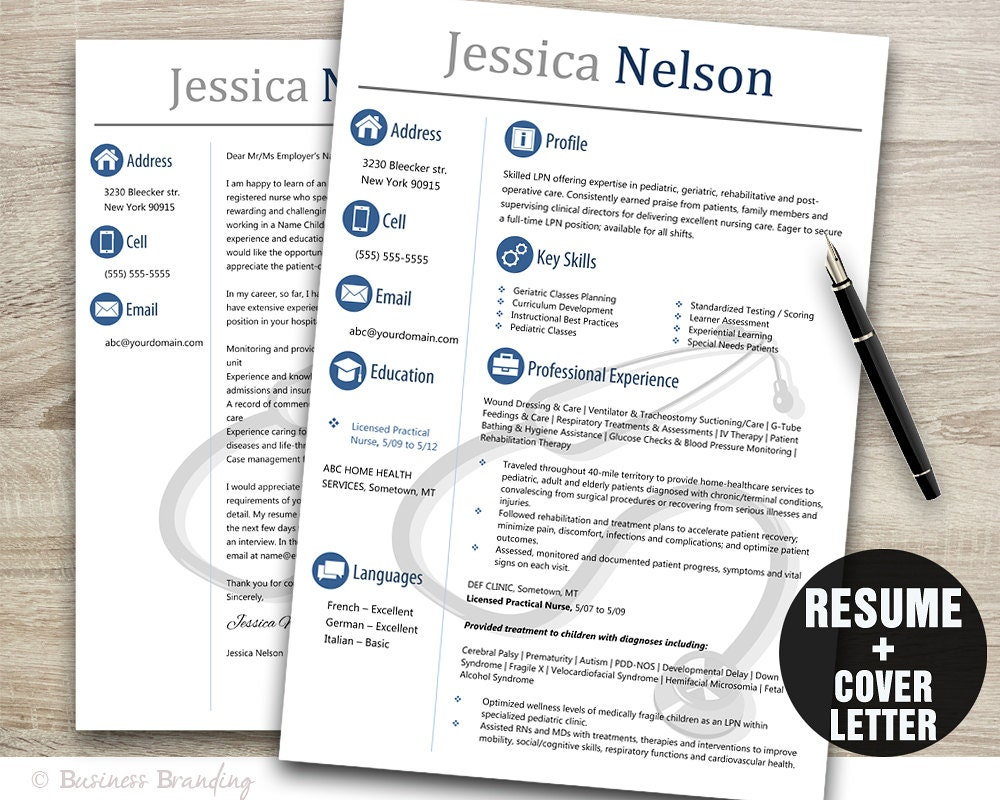 Medical resume templateinstant download medical resumeresume zoom yelopaper Images