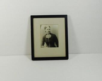 Framed antique portrait – 19th century photograph