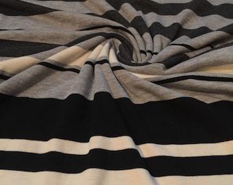 Stretch Rayon Jersey Knit Stripes 1 Yard