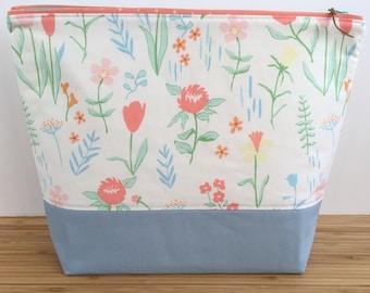 LARGE Project Bag | Floral Spring