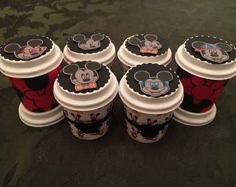 Mickey & Minnie Party Favors - Disney Mini Coffee Cups