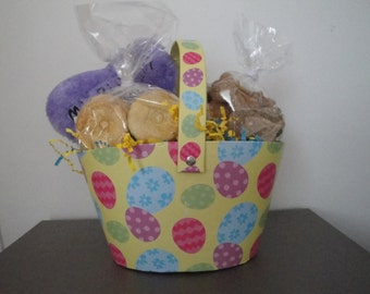 Large Easter Basket-Home Baked All Natural Gourmet Treats