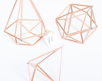 Pyramid Himmeli (Medium) - Geometric Airplant Holders - Home Decor - Wall Sconce