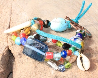 Colorful African Bohemian  bracelet - Bohemian jewelry & African jewelry