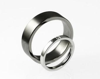 5mm Filigree Eternit wedding band set unique wedding ring