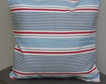 """Sail Stripe Curtain Fabric Cloud 16"""" Cushion Cover"""