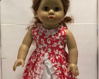 18 In Doll Red and White Summer Dress