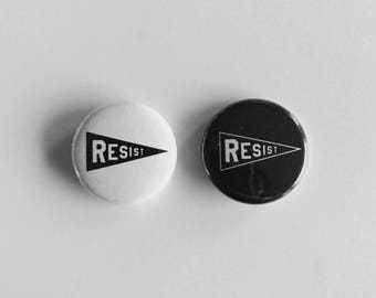 "RESIST 1"" Button Pack (contains 2 buttons)"