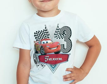 LightningMcQueen personalised birthday Kids  T-Shirt, Childrens Toddlers T Shirt Top.