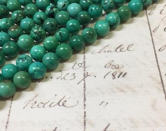 AA quality, Magnesite Beads, Green Beads, Round, 8mm, Full strand,