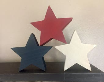 Wood Rustic Stars - Patriotic,  Independence Day, 4th of July Stars, Fourth of July, Americana, Farmhouse Decor