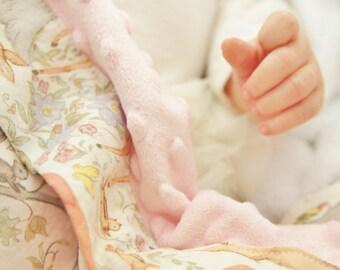 Woodland Buddies Minky Baby Blanket, Woodland Animals Baby Blanket, Minky Baby Blanket, Deer Baby Blanket, Baby Girl Baby Blanket