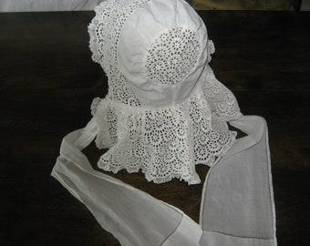 Vintage Baby Sun Bonnet