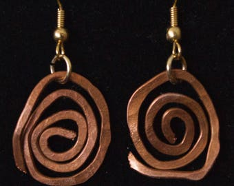 Copper Celestial Earrings