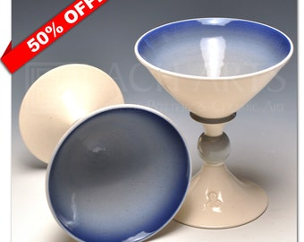 50% OFF - Steel Blue Martini Chalice