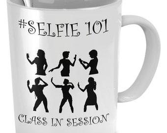 Selfie 101 mug
