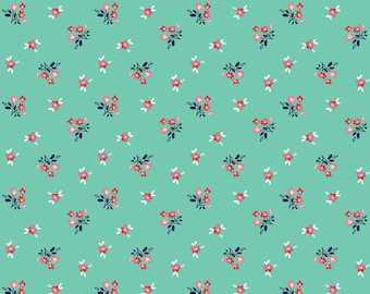 PREORDER Seaside by Tasha Noel for Riley Blake, C7234-TEAL, Seaside Bouquet Teal, Nautical Fabric, Beach Fabric, Boating, Coming in June