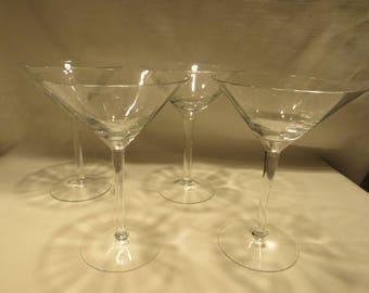 Martini Glasses, Stemware, Barware, Set of 2   (1528)