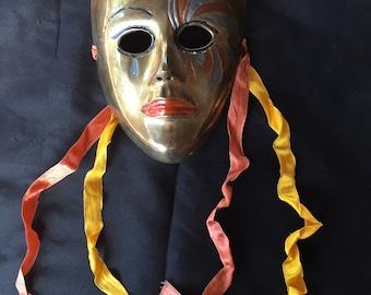 "Metal Mardi Gras Mask 6"" by 4 1/2"""