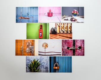 "Postcards set ""Asia"", 10 different pictures per set"