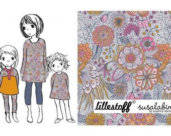 Mandala Flowers Melange Organic Cotton Jersey by Lillestoff