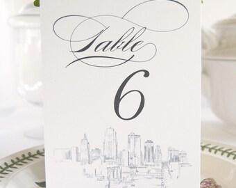 Kansas City Skyline Table Numbers (1-10)