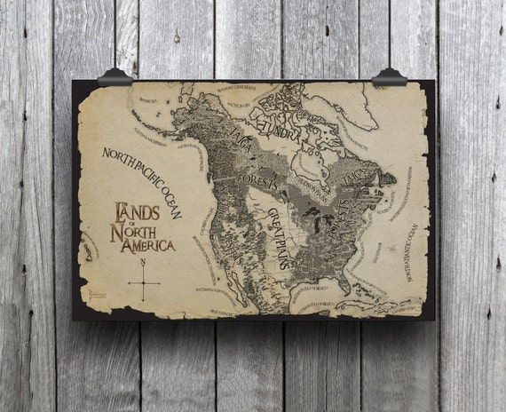 Huge tolkien style adventure map with landforms north publicscrutiny Choice Image