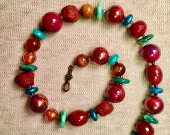 Coral Summer Necklace