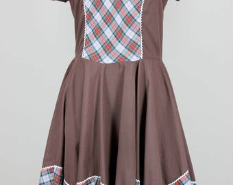 Kate Schorer Originals Vintage 1970s Square Dance Dress