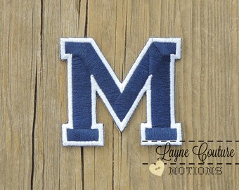 Block M Blue and White Patch / M Patch