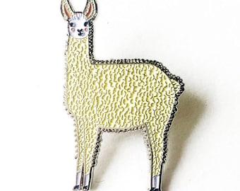 Lama-Emaille-Pin, Lama Schmuck, Lama Brosche, Alpaka-Brosche, Alpaka-Schmuck, Alpaka-Pin