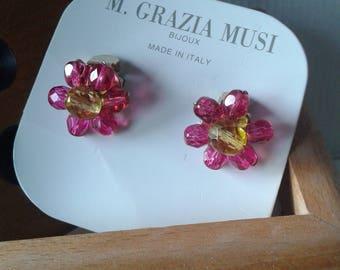 Italian Vintage - Maria Grazia Musi - Clip On Earrings - HANDMADE