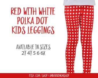 Red polka dot baby leggings red and white toddler leggings toddler leggings red polka dot toddler leggings polka dot kids leggings polka dot sisterspd