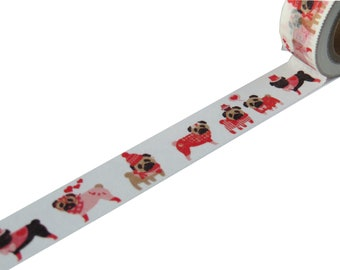 Pug Dog Washi Paper Masking Tape