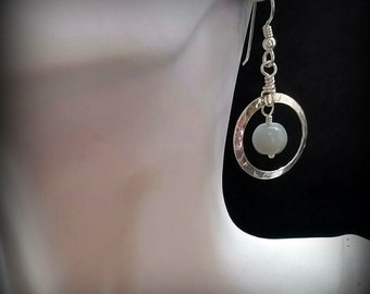 Natural Grey Moonstone Earrings